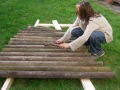 Making my fence-post xylophone - inspired by a xylophone-making session for the BBC Breathing Spaces project at Coombe Park Coventry