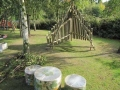 Wigwam xylophone made at Woodside Primary School in the Midlands - in the foreground are clingfilm drums