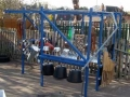 This outdoor structure is at a Primary School near Solihull and is designed to encourage musical play and story-telling