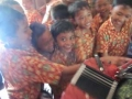 Children at a primary school in Bali trying out my accordion