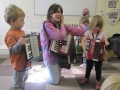 With children from a nursery in Coventry - playing accordions together