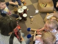 Using instruments together and singing - making up music and words