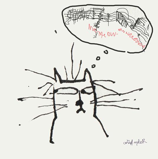 Cat Secretly Composing...