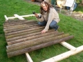 This is a lean-to design as opposed to the table type one made at Coombe Park