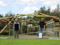 Outdoor structure at Woodside Primary School Midlands with Matt Shaw