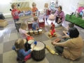 In Coventry - 2 and 3 year olds play music together